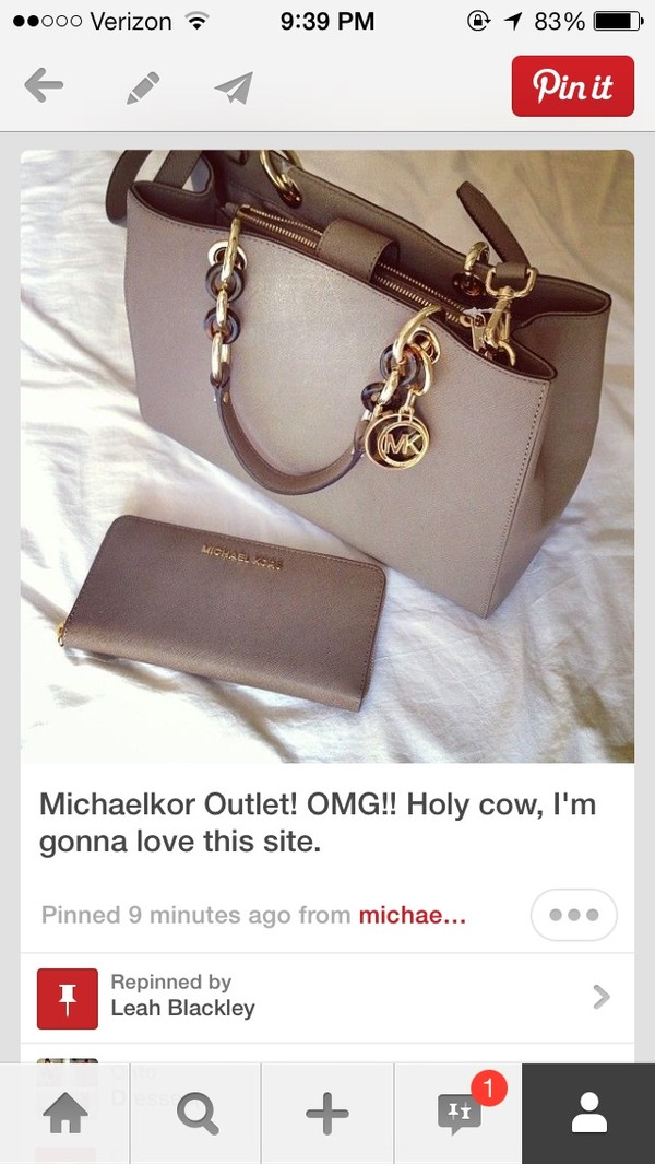 bag michael kors grey charcoal