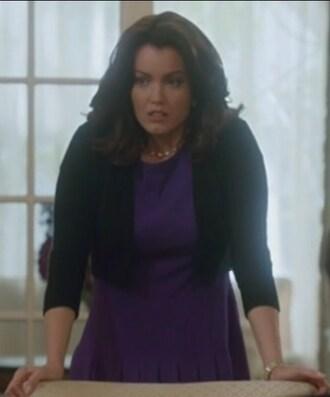 dress purple black cardigan scandal mellie grant bellamy young