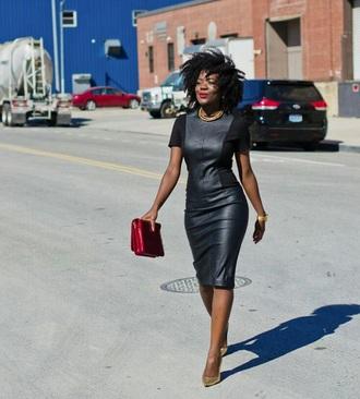 dress black leather black leather dress streetwear