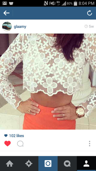 t-shirt whote crop tops flowers