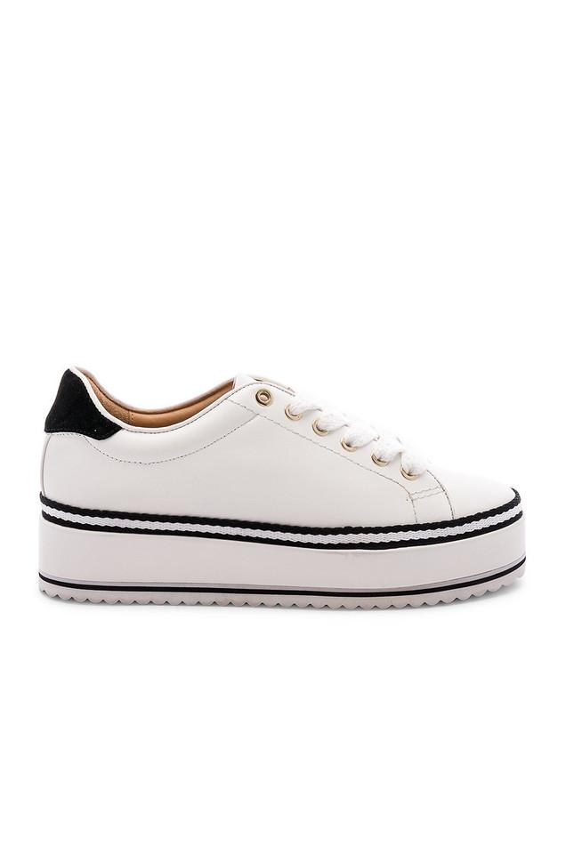 Joie Dabnis Stripe Sneaker in white