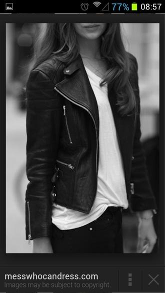 jacket black jacket leather jacket edgy grunge