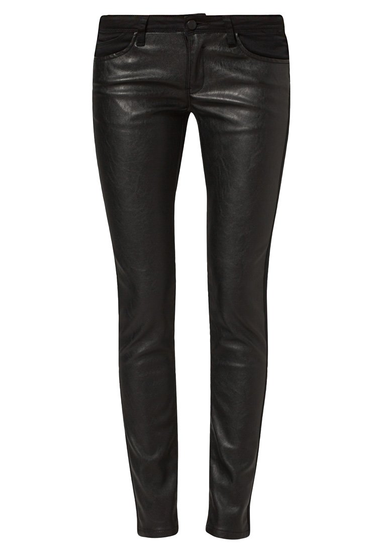 Tiffosi Leather trousers - black - Zalando.co.uk