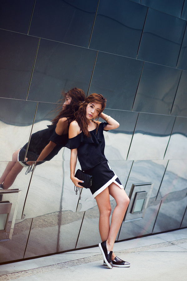 tsangtastic top skirt jewels shoes