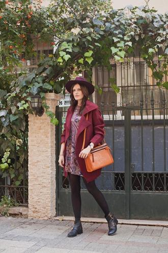 blogger jewels bag the bow-tie cardigan cashmere hat burgundy satchel bag