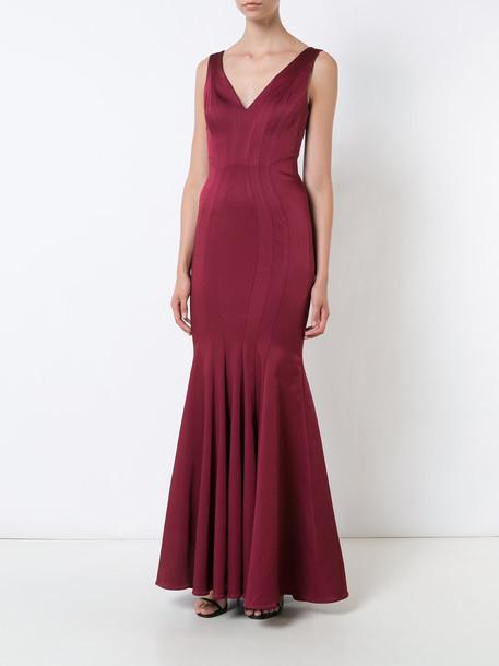 ZAC Zac Posen gown women red dress