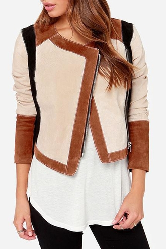 jacket zaful zip trendy brown streetwear style stylish hipster suede jacket