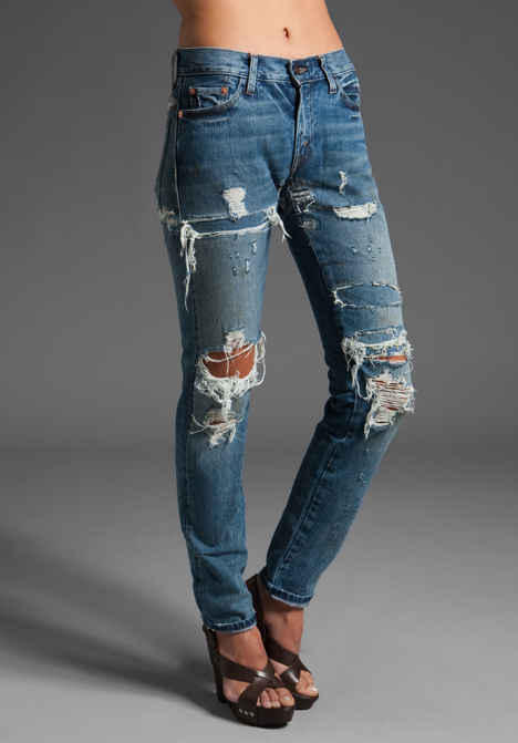 Lvc: levi's vintage clothing 505 customized jean in light/ripped at revolve clothing