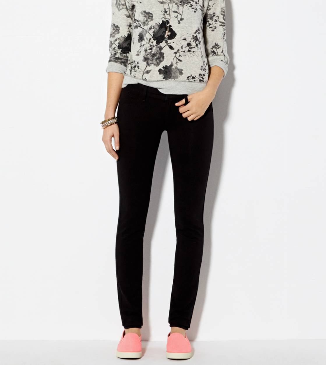 Knit Jegging, Black | American Eagle Outfitters