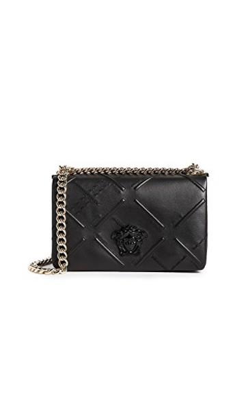 VERSACE embroidered bag shoulder bag black
