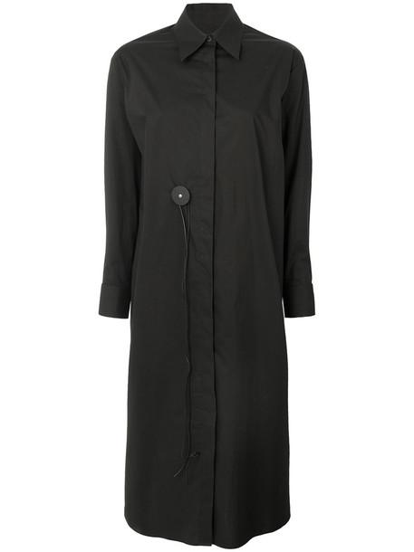 Mm6 Maison Margiela dress shirt dress women cotton black