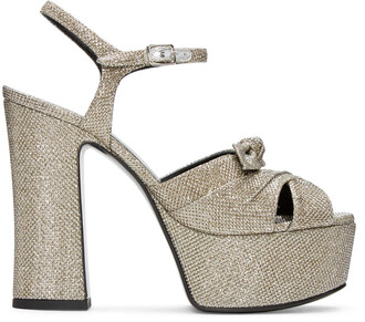 candy sandals silver shoes