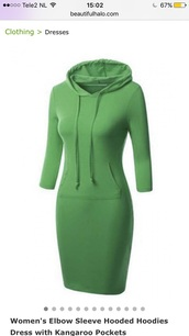 dress,green,casual,sporty,style,hoodie,beautifulhalo