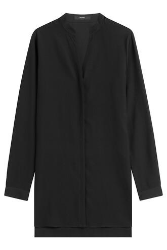 tunic silk black top