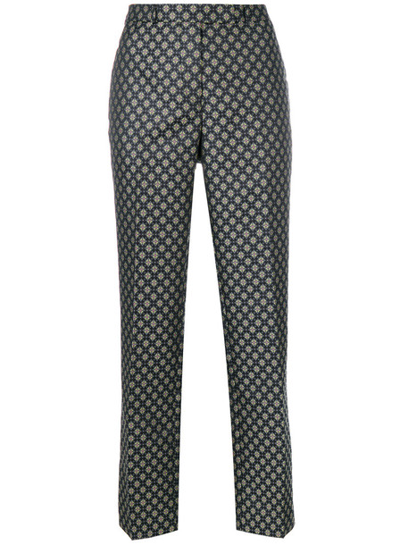 ETRO pants women floral silk