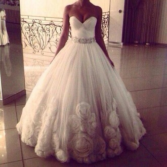 dress wedding dress tulle wedding dress bustier dress
