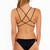 Frankies Bikinis Black Kaia Bottom | Black Designer Bikini Bottoms