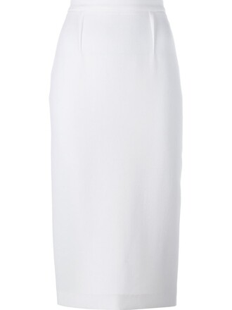 skirt pencil skirt women white wool