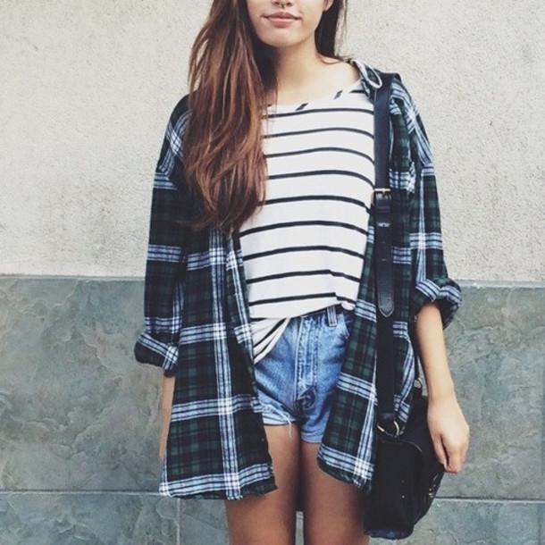 Výsledek obrázku pro flannel shirt tumblr