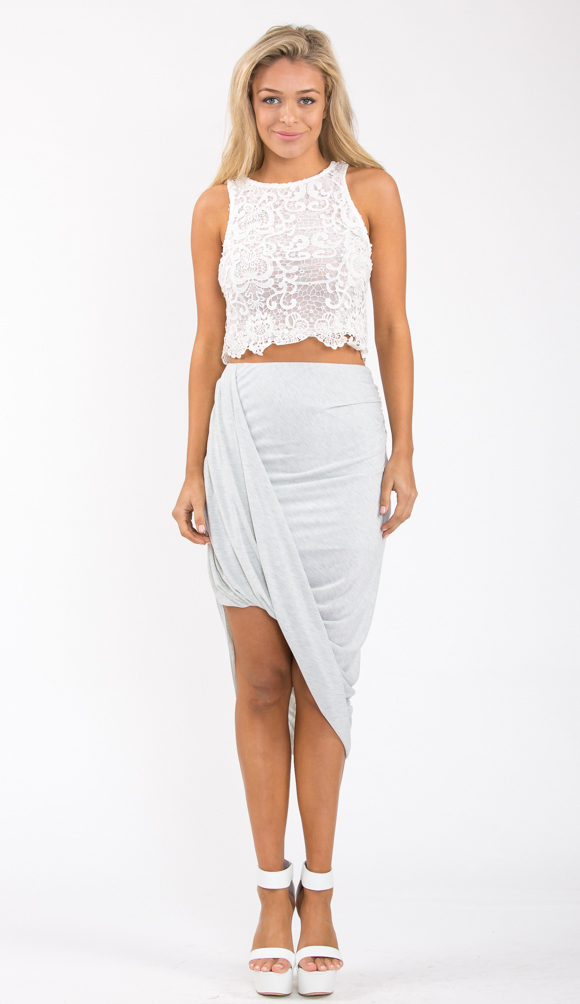 CROSSED OUT SKIRT