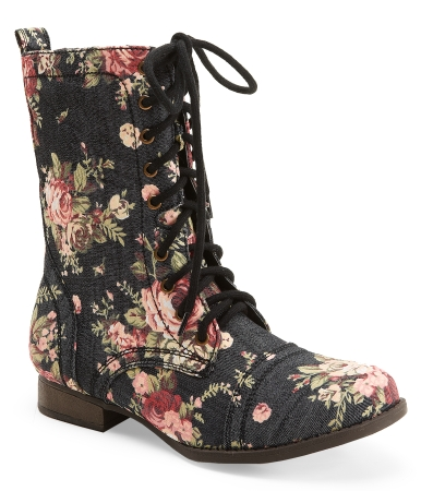 Printed Combat Boot -