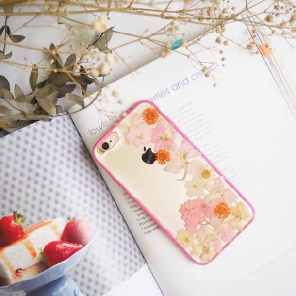 Phone Cover Summer Handmade Handcraft Love Cute Flowers Floral Daisy Pink Iphone6s Accegift Giftideas Gift Ideas