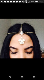 jewels,head jewels,white stone,jewelry,boho,boho chic,boho jewelry,bohemian,bling,headpiece,gold,accessories,Accessory,hair accessory