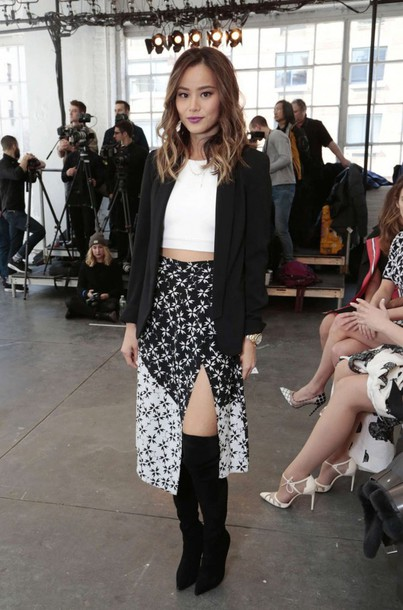 skirt jamie chung jacket top