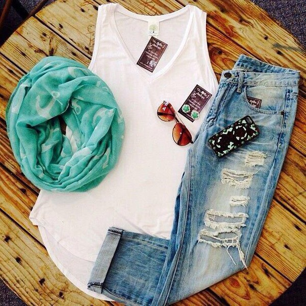 jeans scarf