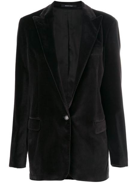 TAGLIATORE blazer women spandex cotton black jacket