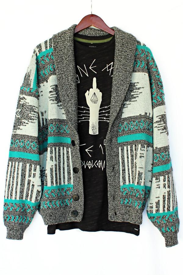 cardigan justvu.com stoner hipster grandpa sweater menswear mens sweater tribal cardigan