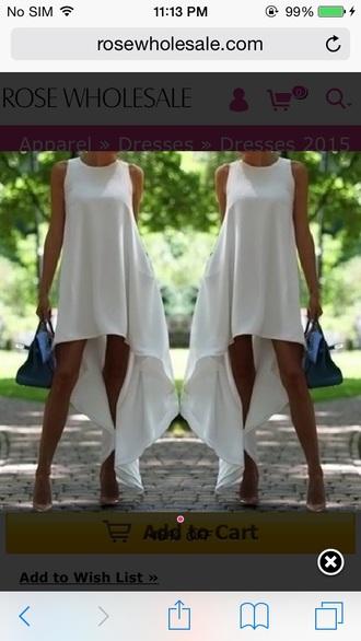high-low dresses high low dress high low white dress summer dress