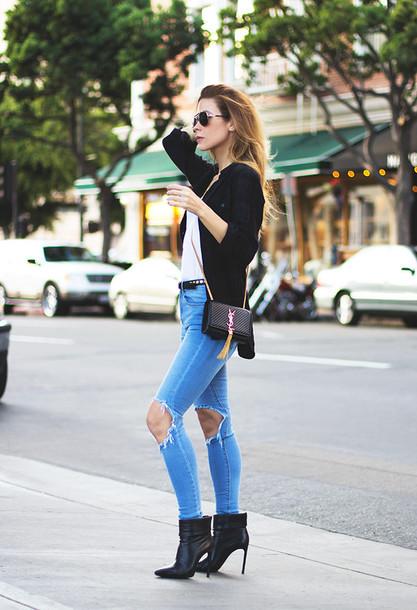 sunglasses t-shirt bag tank top belt shoes