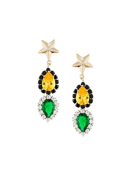 IOSSELLIANI women jewels earrings gold grey metallic