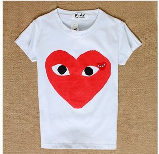 Free shipping women cartoon heart eyes t shirt lady short sleeve 100% loose cotton t shirt -in T-Shirts from Apparel & Accessories on Aliexpress.com
