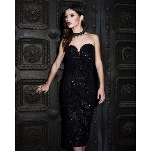 c39f951f dress sequin dress sequin black dress black dress little black dress tube dress  sequins all black