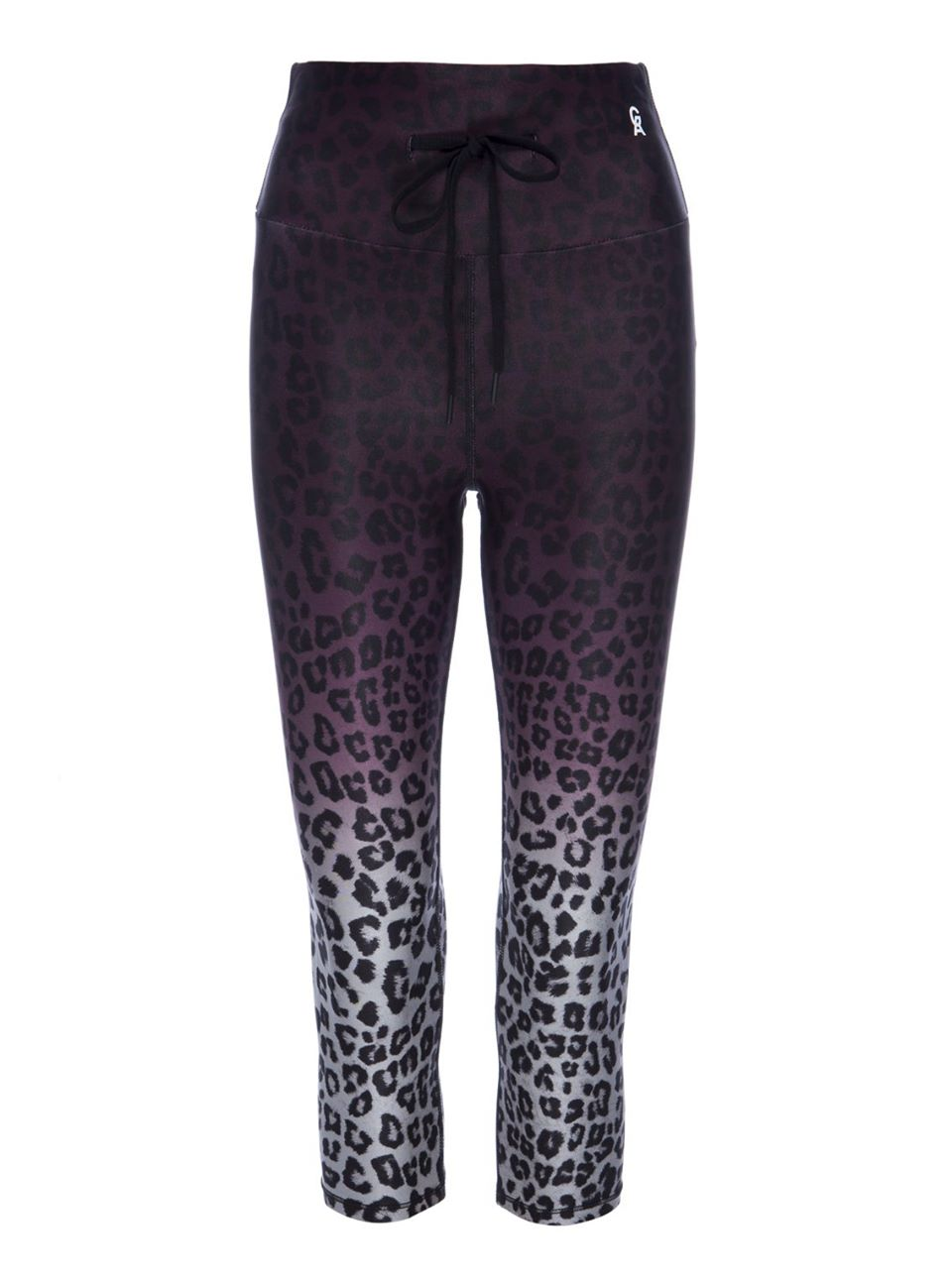 The Ombre Leopard Cinched Waist 7/8 Leggings