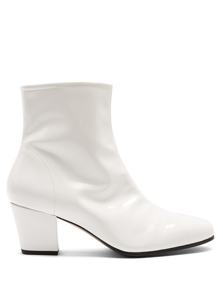 ALEXACHUNG leather ankle boots ankle boots leather white shoes