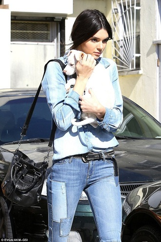 bag kendall and kylie jenner jeans
