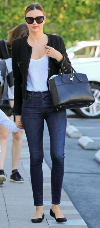jeans skinny jeans miranda kerr fall outfits ballet flats