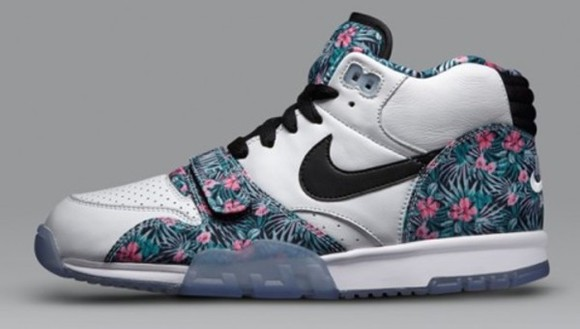 shoes flowers blue nike white nike air
