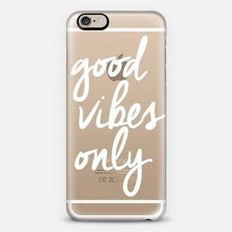 phone cover good vibes only good vibes only clear white iphone 6 case