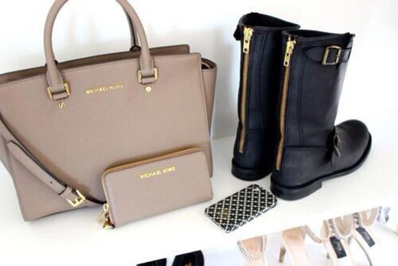 black boots gold zipper boots kors michael kors