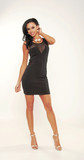Mesh Inset Bodycon Dress | Affordable Junior Clothing & Plus Sized Dresses | Shimmer