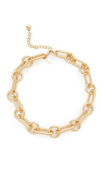 short clear necklace gold jewels