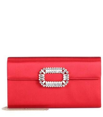 clutch satin red bag