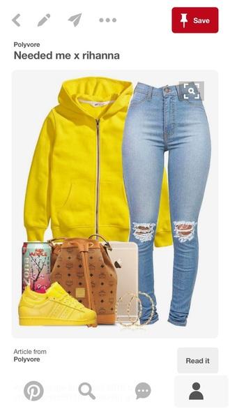 jacket bright yellow