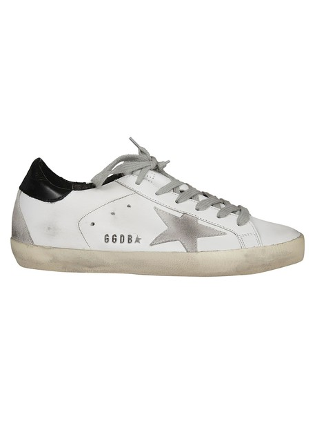 Golden goose sneakers white black shoes