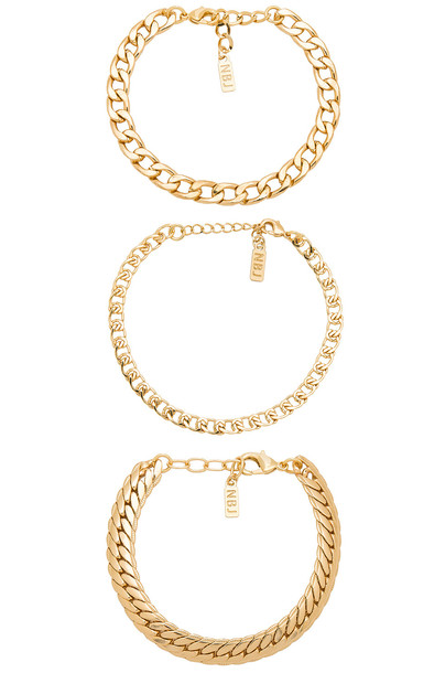Natalie B Jewelry metallic gold jewels
