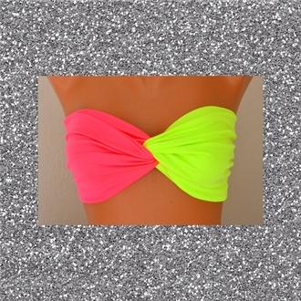 swimwear neon cute glitter green pink bikini love this or can we find it? :)